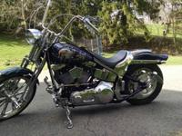 Customized 2001 Harley Springer Softail. In excellent