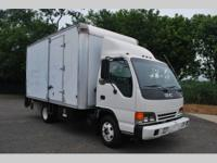 THIS G��01 ISUZU NPR IS A COMMERCIAL BOX TRUCK THAT IS