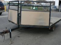 2002 16' Hualmark Side X Side Snowmobile/Flat Bed V