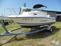 2002 18.5' SeaSwirl Striper Walkaround with Johnson 150