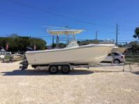 This 2002 22' Edgewater 225 Center Console is powered