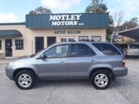 Options Included: N/A2002 Acura MDX Touring! Leather!