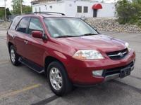 2002 Acura MDX. Saddle Leather. High-quality