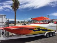 2002 Aftershock Violator 28' 502 mag MPI, 480HP, Volvo
