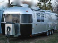 2002 Airstream Classic 34 Limited Leather sofa and