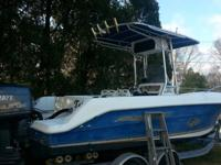 Great condition! Center console with fishfinder, VHF,