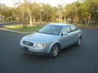 2002 Audi A4 Quattro(AWD) Automatic Leather sunroof has