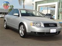 Volkswagen of Kearny Mesa presents this 2002 Audi A4