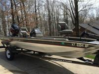 2002 Bass Tracker Pro Crappie 175 that is in great