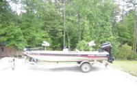 2002 Bass Tracker Pro Team 165 with 40 hp Mercury