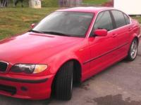 NICE 2002 BMW 330I RED EXTERIOR WITH PREMIUM PKG, SPORT