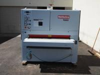 "Butfering Super 213RL (2) Head 53"" Wide Belt Sander,"