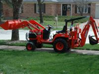 backhoe (6' digging depth) and front loader (460 lb.