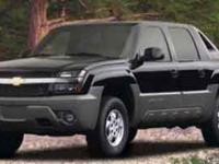 Options:  2002 Chevrolet Avalanche|Black/|V8 5.3L