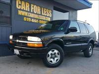 Meet our 2002 Chevrolet Blazer LS in stunning Black