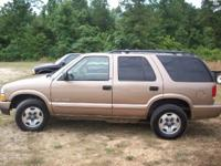 Options Included: N/AThis 2002 Chevy Blazer 4x4 is very