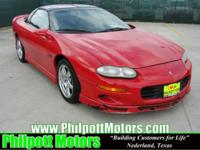 Options Included: N/A2002 Chevy Camaro, red with black