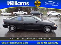 Options:  2002 Chevrolet Cavalier Base|Black| --- This