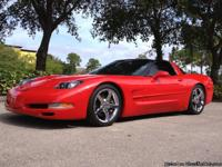 This 2002 Chevrolet Corvette coupe is sleek and sexy!