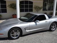 2002 Chevrolet Corvette Coupe Silver Exterior Black
