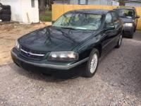 Options:  2002 Chevrolet Impala Base|Green|Cash Special