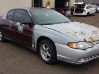 2002 Chevrolet Monte Carlo.  Licensed Salvage Yard in