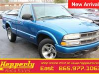 Clean CARFAX. This 2002 Chevrolet S-10 LS in Space Blue
