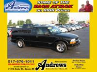 2002 Chevrolet S-10 LS 2WD Ext Cab Black Exterior and