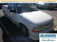 Options:  2002 Chevrolet S-10 White|This Great Truck Is