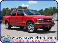 Options Included: 2002 Chevrolet S-10 LS Crew Cab 4x4