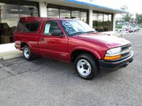 2002 Chevrolet s-10 LS regular cab, 4-cylinder,