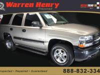 Options Included: N/A2002 CHEVROLET Tahoe 4dr 1500 LS