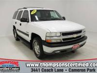 Safe and reliable, this pre-owned 2002 Chevrolet Tahoe
