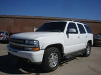 Options Included: N/A2002 Chevy Tahoe Z-71 4X4. White