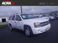 2002 Chevrolet TrailBlazer, key features include: a