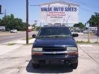 2002 Chevy Blazer LS, 4 Dr, Automatic, V6 Blue Exterior