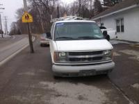 THIS 2002 CHEVY EXPRESS 2500 CARGO VAN IN WHITE HAS A
