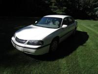 2002 CHEVY IMPALA. White Outside, Gray Inside, 151,000