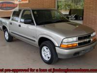 2004 Chevy S10 Crew Cab 4x4 Pre-Owned. This is a really