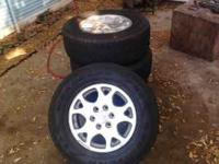 hey I have 4 rim and tires for sale have about 75% of