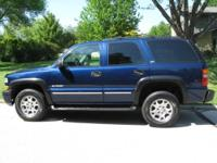 2002 CHEVY TAHOE Z71 BLUE,Great condition, interior in