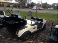 This is a 2002 club car 48 volt golf cart with 2010
