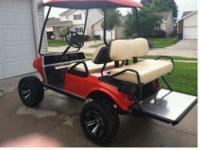 Gas Powered Club Car Golf CartHugger OrangeJake's Long