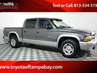 Options:  2002 Dodge Dakota Slt|Gray|Toyota Of Tampa