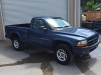 CARFAX One-Owner. Clean CARFAX. Blue 2002 Dodge Dakota