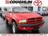 CARFAX One-Owner. This 2002 Dodge Dakota Sport in Red