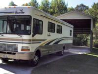 2002 Fleetwood Bounder, 34ft w/two slides, 39,900 mi.,