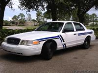 This 2002 Ford Crown Victoria is a police interceptor