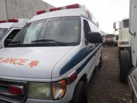 2002 FORD E-350 1 TON AMBULANCE  8 CYL 7.3L 16V