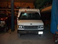 for sale white ford e350 dually contractor work van